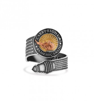 LIBERTY COPPER CARRY LIGHT™ 14kt Gold Center Spoon Ring