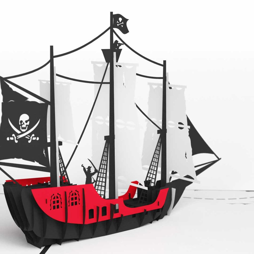 pirate ship 3d pop up birthday card details Send Greeting Cards They'll Actually Want to Keep Forever